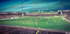 Millwall v Norwich 'The Old Den' 1980's  20'' x 30'' Box Canvas
